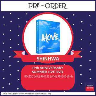(PRE-ORDER) SHINHWA 19th ANNIVERSARY SUMMER LIVE (MOVE) DVD