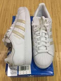 Adidas Superstar Original White/Gold Limited (Prelove)