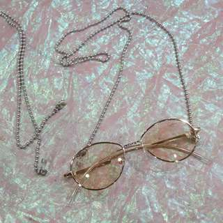 圓珠造型眼鏡鍊