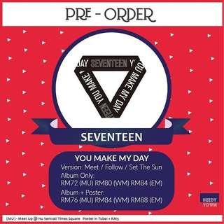(PRE-ORDER) SEVENTEEN - YOU MAKE MY DAY