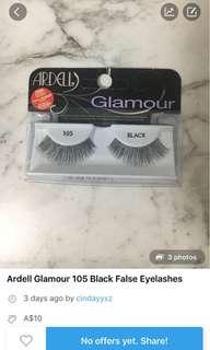 Ardell False Eyelashes Glamour 105 Black