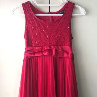 My Michelle Girls' Red Dress (8-10 years old)
