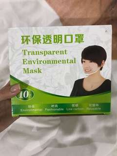 REPRICED!! Brand New Transparent Environmental Mask (3pcs)