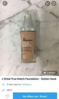 L'Oréal True Match Foundation - Golden Sand