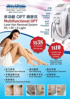 Multifunctional OPT Laser Hair Removal System
