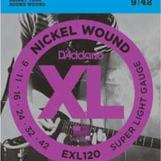 D'Addario EXL120 Nickel Wound Electric Guitar String (9 - 42)