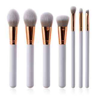 7pc Rose Gold Brush Set
