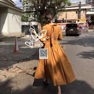 ioz 韓著氣質簡約露背短袖洋裝連身裙