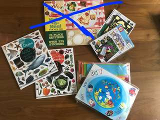 Brand new 6 DIY crafts and reusable stickers