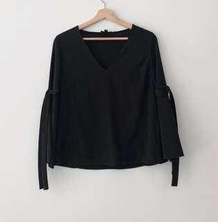 Top shop bell sleeve blouse
