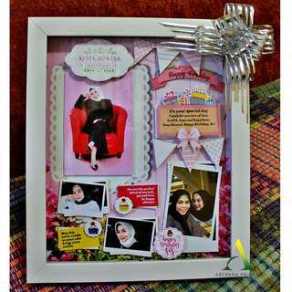 Scrapframe 3D Box Hadiah Ulang Tahun, Graduation, Anniversary, Wedding