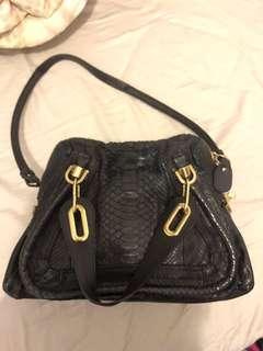 Chloe paraty python bag medium