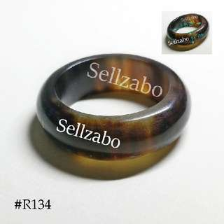 #R134 : Rings : 1.8cm : Size : Brown : Colour : Mens : Guys : Boys : Male : Man : Fingers : Hands : Accessories : 男戒指 : Design : Broad : Personality : Vintage : Unique : Natural Cow Horn : Gift : Sellzabo