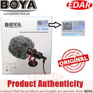 BOYA BY-MM1 CARDIOID MICROPHONE MIC 3.5MM PLUG ««ORIGINAL & OFFICIAL BOYA»»