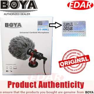 BOYA BY-MM1 CARDIOID MICROPHONE MIC 3.5MM PLUG ««ORIGINAL & OFFICIAL BOYA»»
