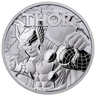 Marvel 超級英雄系列第二擊 - Thor 雷神銀幣1oz  復仇者聯盟 fans 不容錯過!
