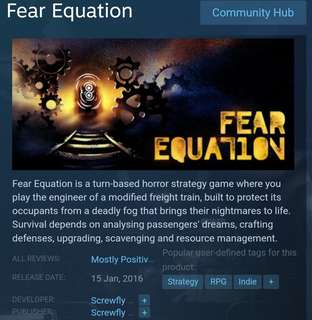 [Clearance Sale] Steam - Fear Equation Game