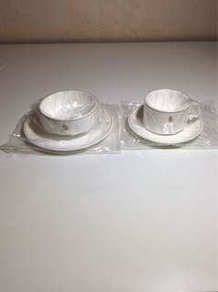 SIA Singapore Airlines Narumi Bone China Cup Saucer Bowl Plates