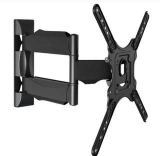 "TV Swivel Wall Mount Rack Hanging Fixer Mounting Bracket DF400 Single Arm Full Motion Bracket Medium 32""-52"""