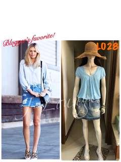 🚚 L028全新加拿大潮牌only Jeans retro 復古刷色牛仔短裙包覆設計牛仔裙單寧美式休閒denim skirt J-Lounge
