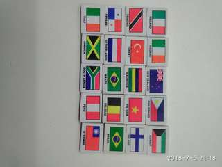 20 Country erasers