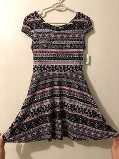 Aztec printed Skater Dress Brand new