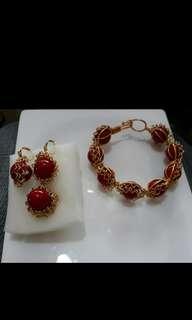 Cofer wire set, coral stone