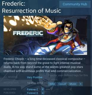 [Clearance Sale] Steam - Frederic: Resurrection of Music Game