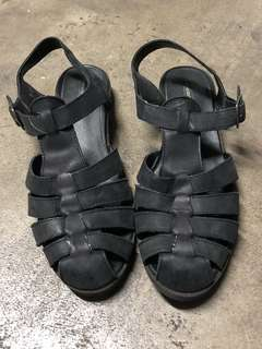 Windsor Smith Black Sandals