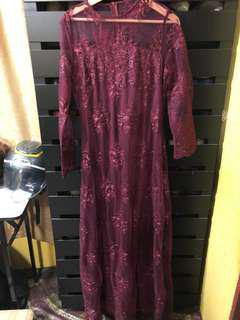 NEW Zalia lace maroon
