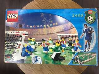 LEGO 3409 Soccer Football Field Playset with Mini Figures World Cup adidas zidane 世界盃我們的足球場小將
