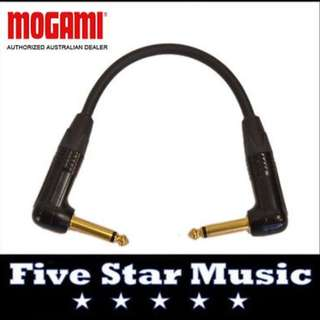 MOGAMI GOLD CABLE  RIGHT ANGLE GUITAR PEDAL PATCH LEAD w NEUTRIK - NEW