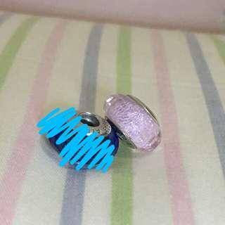Pandora murano glass charm 粉紅琉璃珠