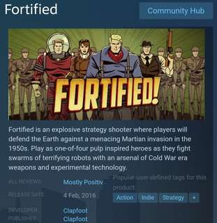 [Clearance Sale] Steam - Fortified Game