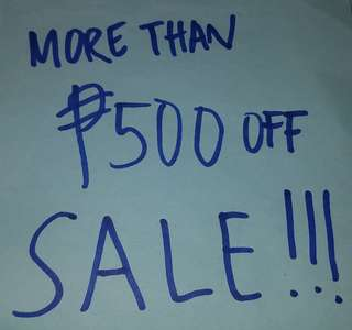 SALE items w/ P500 OFF tag