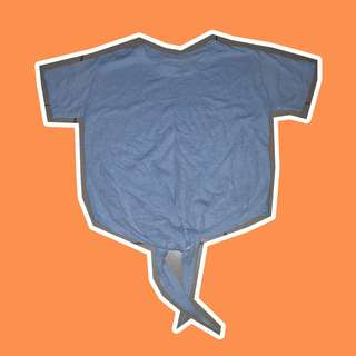 Blue tie top