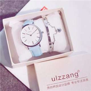 Korea ulzzang brand Fashion watch (2in1)