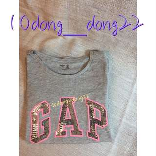 🚚 GAP Girls T-shirt 經典Logo亮片短袖上衣