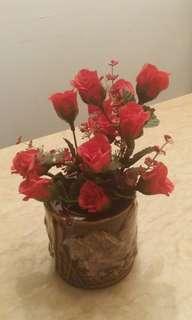 玫瑰花蓮花盆