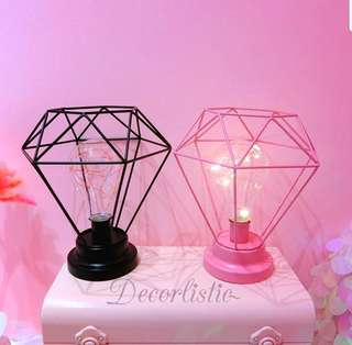 (PO) Caged bulb table lamp