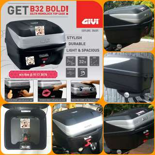 0507-- GIVI BOX B32 BOLD new model 😆😆😆 (YAMAHA SPARK,JUPITER, HONDA, SUZUKI)