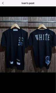 AUTHENTIC Off White Waves Twill T shirt - Size M