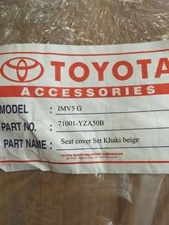 Toyota Innova original seat cover