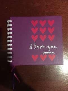 I love you journal