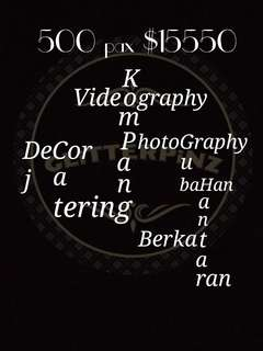 All in one wedding package / decor / catering / photography / videography