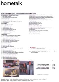 HDB Resale Kitchen & Bathrooms Promotion Package