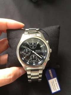 Brand new Seiko men's chronograph watch