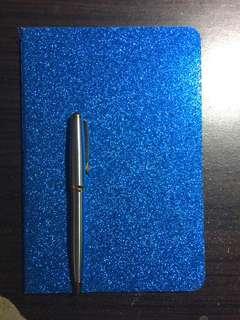 Royal Blue Notebook Glitter Notebook Cute