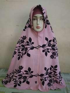 jilbab panjang motif