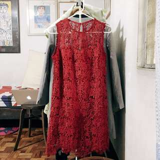 REPRICED!!! Zalora Lace Dress (RED)